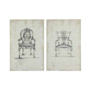 Toiles imprimées fauteuils (x2) 80x120 Maisons du Monde