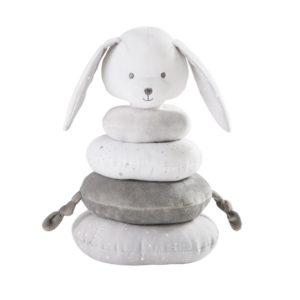 Tour d'éveil en coton gris et blanc Maisons du Monde