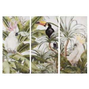 Triptyque en toile imprimé tropical 270x190 Maisons du Monde