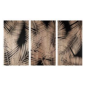 Triptyque gravé motifs feuilles 150x90 Maisons du Monde