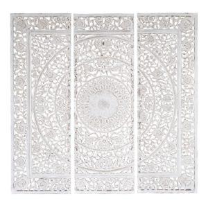 Triptyque sculpté blanc 150x150 Maisons du Monde
