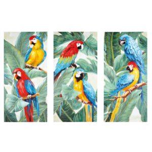 Triptyque toiles perroquets 270x190 Maisons du Monde