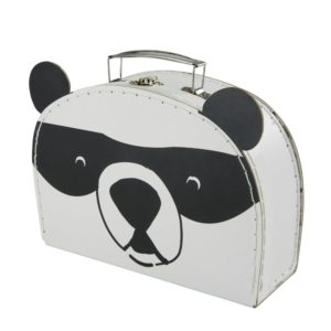 Valisette panda en papier et carton noirs et blancs Maisons du Monde