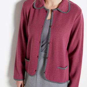 Veste bicolore en maille milano Violet Balsamik