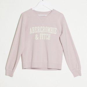 Abercrombie & Fitch - Sweat en molleton classique avec logo - Rose Asos