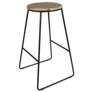 Tabouret de bar assise en bois Gifi