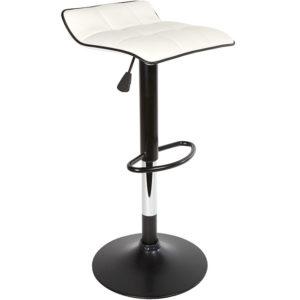 Tabouret de bar rotatif 360° majestik blanc Gifi