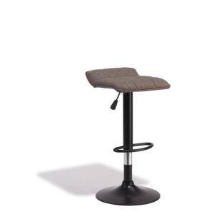 Tabouret de bar rotatif 360° majestik gris Gifi