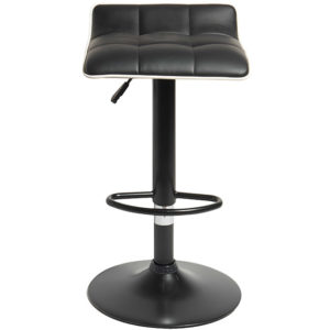 Tabouret de bar rotatif 360° majestik noir Gifi