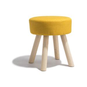 Tabouret joseph jaune moutarde Gifi