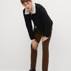 Veste aviateur laine et imitation mouton Nouvelle collection MANGO MAN
