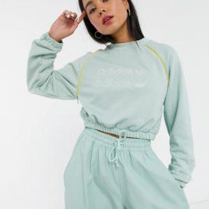 adidas Originals - RYV - Sweat-shirt court - Vert Asos